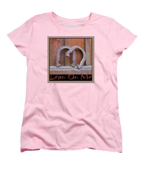 Women's T-Shirt (Standard Cut) featuring the photograph Lean On Me by Brooks Garten Hauschild