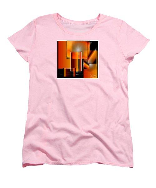 Women's T-Shirt (Standard Cut) featuring the digital art Orange by Iris Gelbart