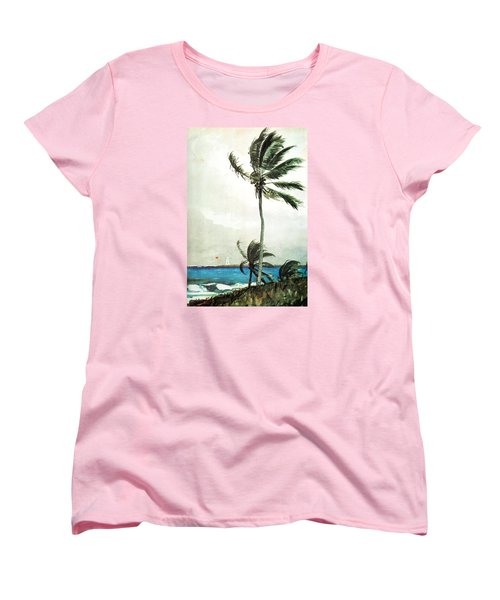 Palm Tree Nassau Women's T-Shirt (Standard Cut) by Celestial Images