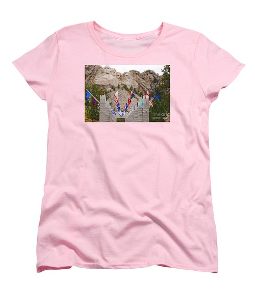 Women's T-Shirt (Standard Cut) featuring the photograph Patriotic Faces by Mary Carol Story