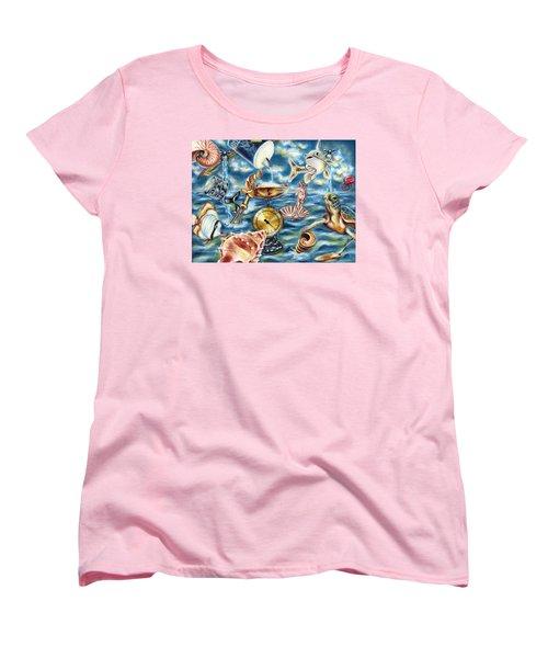 Women's T-Shirt (Standard Cut) featuring the painting Recipe Of Ocean by Hiroko Sakai