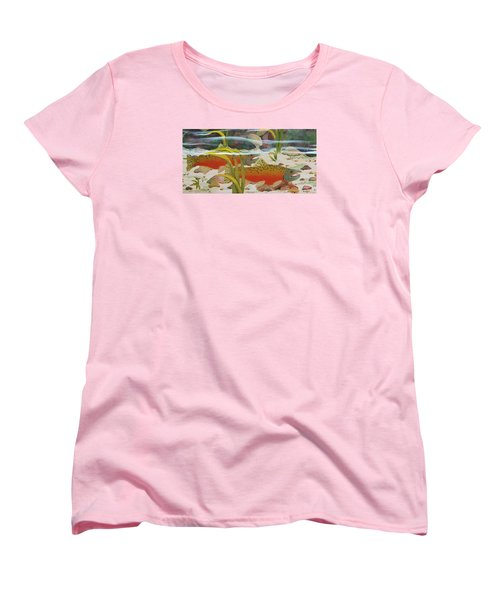 Salmon Women's T-Shirt (Standard Cut) by Katherine Young-Beck