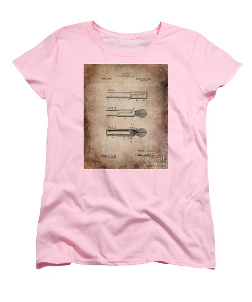 Shaving Brush Diagram 1920  Women's T-Shirt (Standard Cut)