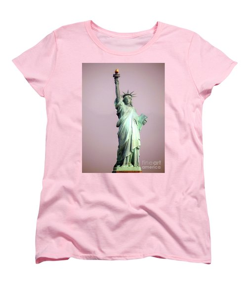 Statue Of Liberty Women's T-Shirt (Standard Cut) by Ed Weidman