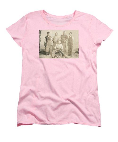 1800's Vintage Photo Of Blacksmiths Women's T-Shirt (Standard Cut) by Charles Beeler