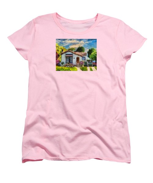 Alameda 1932  Spanish Beauty Women's T-Shirt (Standard Cut) by Linda Weinstock