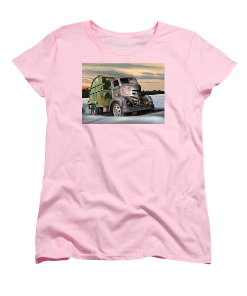 1940 Gmc Garbage Truck Women's T-Shirt (Standard Cut) by Stuart Swartz