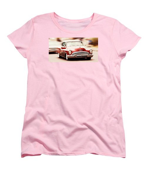 Vintage Car Women's T-Shirt (Standard Cut) featuring the photograph 1953 Buick Super by Aaron Berg