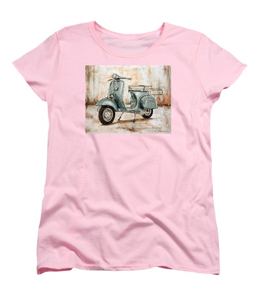 1959 Douglas Vespa Women's T-Shirt (Standard Cut) by Joey Agbayani