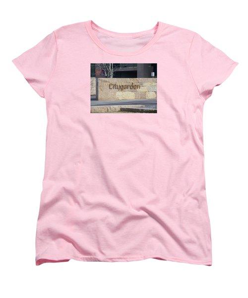 City Garden Women's T-Shirt (Standard Cut) by Kelly Awad