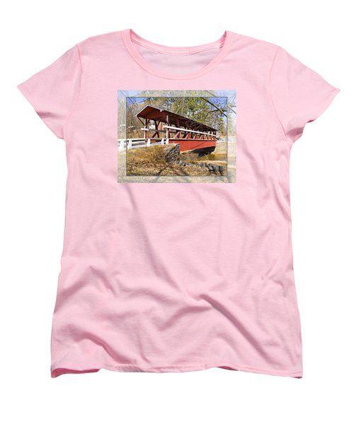Covered Bridge In Pa. Women's T-Shirt (Standard Cut) by Walter Herrit