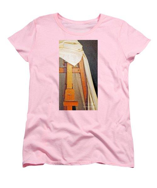 Draped Easel Women's T-Shirt (Standard Cut) by Lilliana Mendez