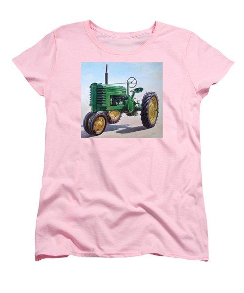 John Deere Tractor Women's T-Shirt (Standard Cut) by Hans Droog