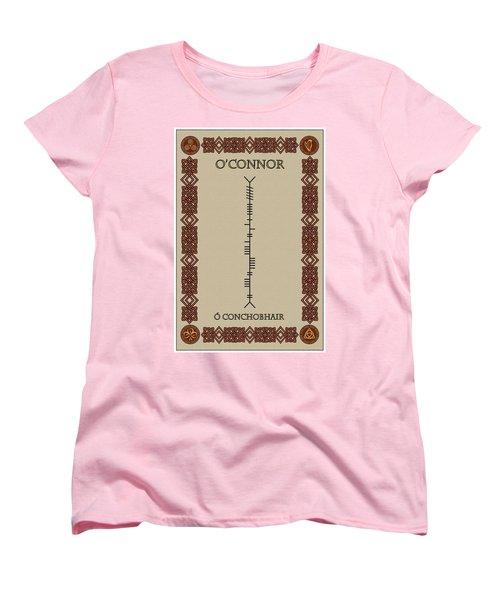 Women's T-Shirt (Standard Cut) featuring the digital art O'connor Written In Ogham by Ireland Calling