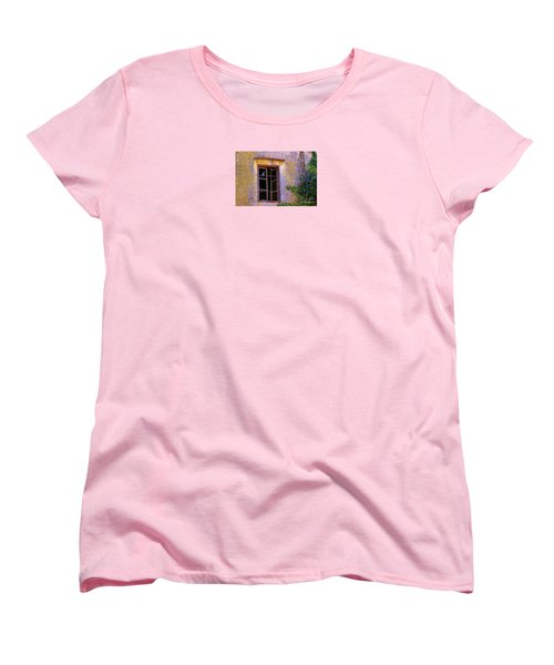 Women's T-Shirt (Standard Cut) featuring the photograph Pigeons And Morning Glories by Michele Penner