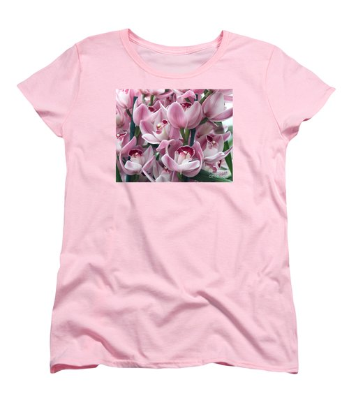 Women's T-Shirt (Standard Cut) featuring the photograph Pink Orchids by Debbie Hart
