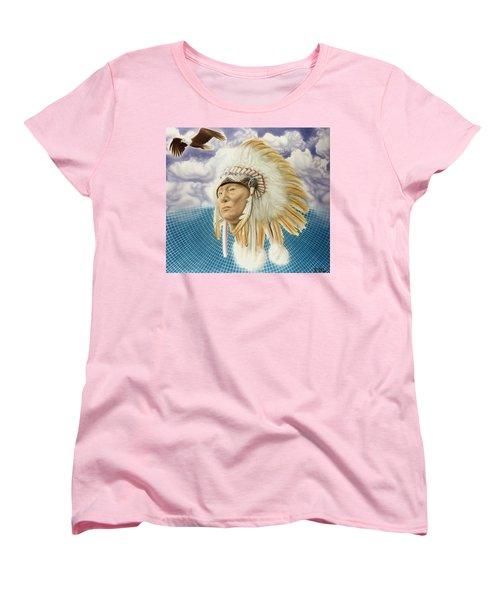 Proud As An Eagle Women's T-Shirt (Standard Cut) by Rich Milo