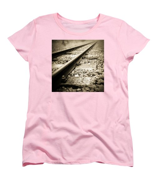Railway Tracks Women's T-Shirt (Standard Cut) by Les Cunliffe