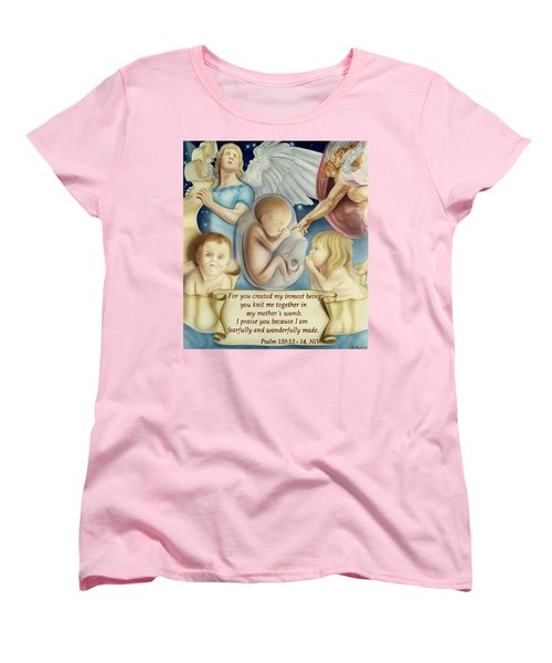 Sanctity Of Life Women's T-Shirt (Standard Cut) by Rich Milo