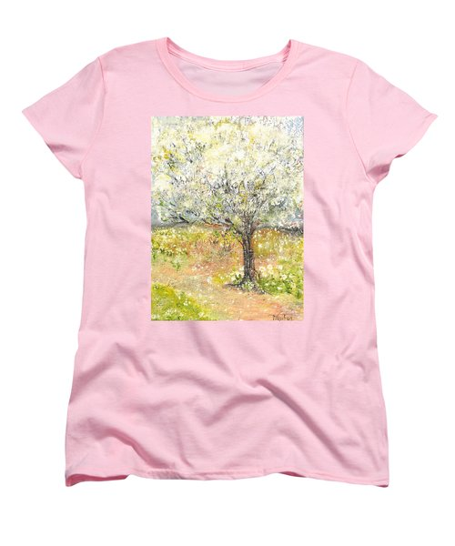 Spring Women's T-Shirt (Standard Cut) by Evelina Popilian