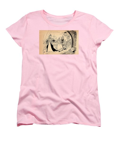 Women's T-Shirt (Standard Cut) featuring the drawing The Palace Balcony by Reynold Jay