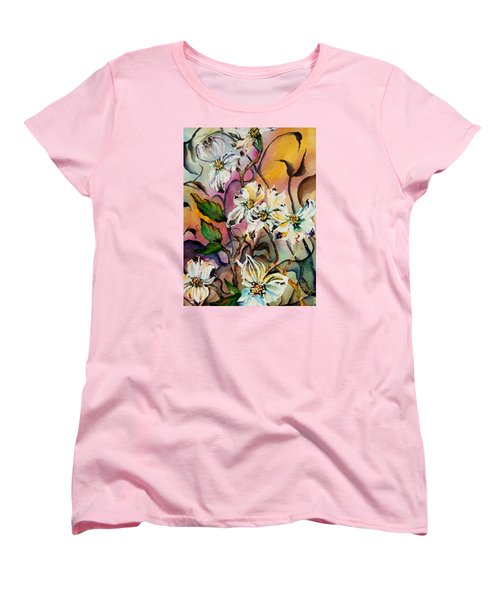Dance Of The Dogwoods Women's T-Shirt (Standard Cut) by Lil Taylor