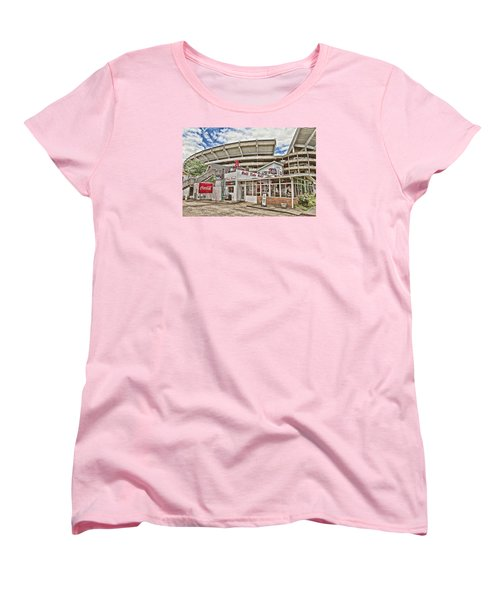 Shadow Of The Stadium Women's T-Shirt (Standard Cut) by Scott Pellegrin
