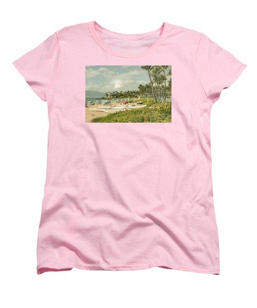 Wailea Beach Maui Hawaii Women's T-Shirt (Standard Cut)