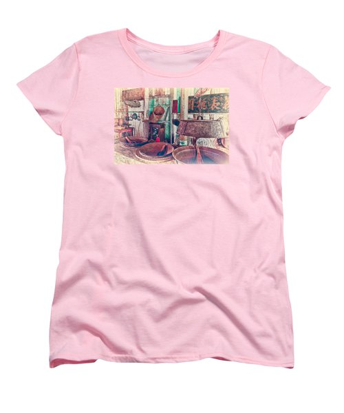 Women's T-Shirt (Standard Cut) featuring the photograph 3-wok Kitchen by Jim Thompson