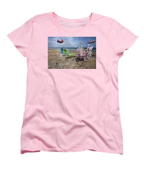 Search Party Women's T-Shirt (Standard Cut) by Betsy Knapp