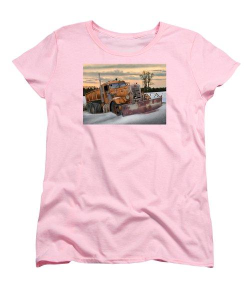 '55 Pete Snowplow Women's T-Shirt (Standard Cut) by Stuart Swartz