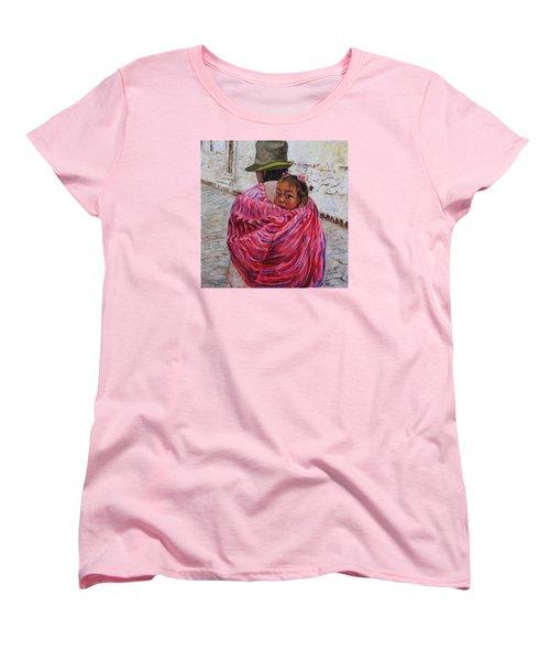 A Bundle Buggy Swaddle - Peru Impression IIi Women's T-Shirt (Standard Cut) by Xueling Zou