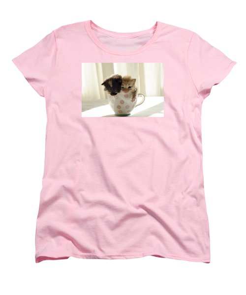 A Cup Of Cuteness Women's T-Shirt (Standard Cut) by Spikey Mouse Photography
