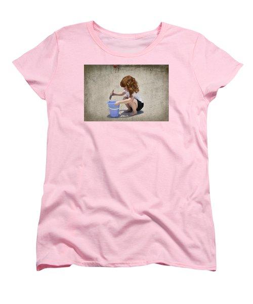 A Day At The Beach Women's T-Shirt (Standard Cut) by Charles Beeler