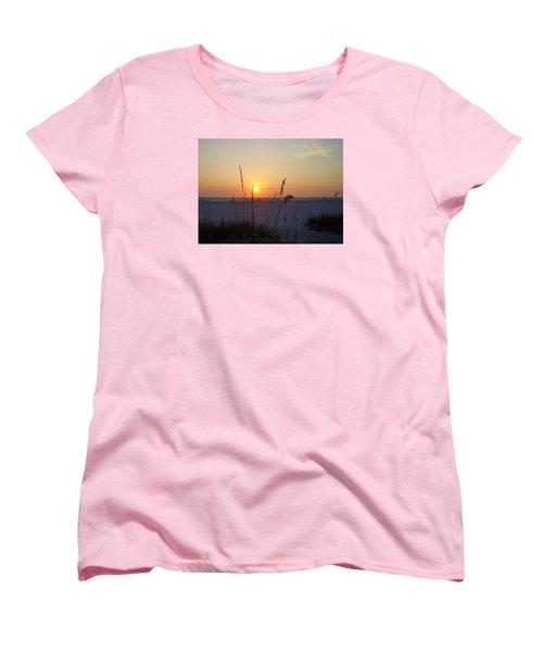 A Florida Sunset Women's T-Shirt (Standard Cut) by Cynthia Guinn