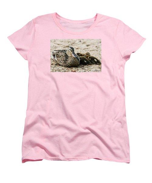 A Mother's Love Women's T-Shirt (Standard Cut) by Barbara Bardzik