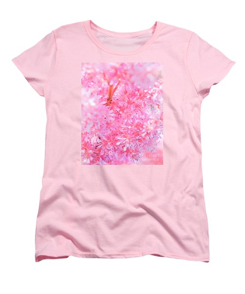 A Natural Pink Bouquet Women's T-Shirt (Standard Cut) by David Perry Lawrence