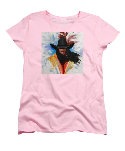 A Stroke Of Cowgirl Women's T-Shirt (Standard Cut) by Lance Headlee