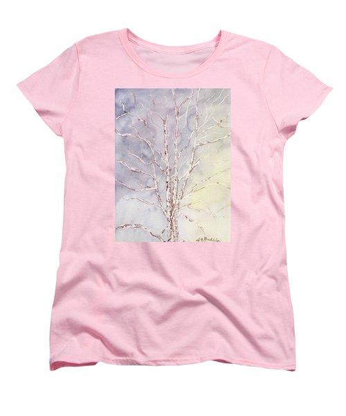 A Tree In Winter Women's T-Shirt (Standard Cut) by Vickie G Buccini