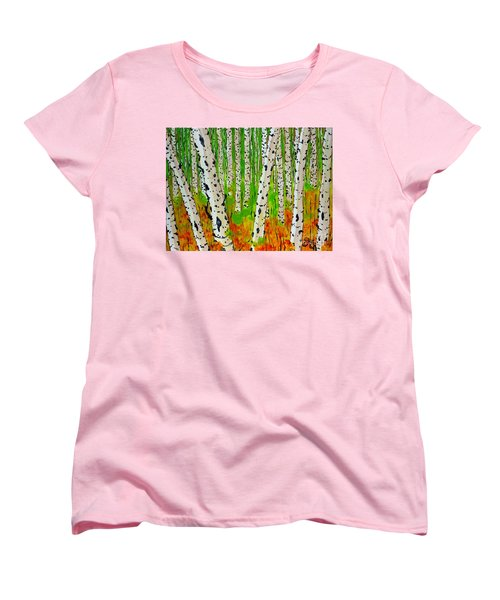 A Walk Though The Trees Women's T-Shirt (Standard Cut) by Jackie Carpenter