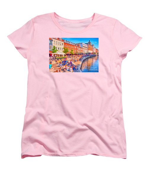 Aarhus Canal Digital Painting Women's T-Shirt (Standard Cut) by Antony McAulay