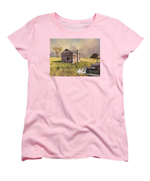 Women's T-Shirt (Standard Cut) featuring the photograph Abandoned by Liane Wright