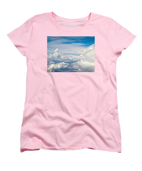 Above The Clouds Over Texas Image B Women's T-Shirt (Standard Cut) by Byron Varvarigos