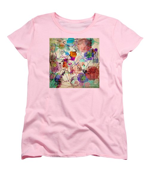 Women's T-Shirt (Standard Cut) featuring the digital art Abstract Expressionism by Phil Perkins