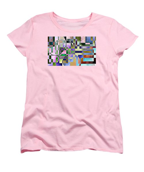 Women's T-Shirt (Standard Cut) featuring the painting Abstract In Lavender by Curtiss Shaffer