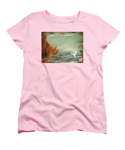 Achieving Stillness2 Women's T-Shirt (Standard Cut) by Laurianna Taylor