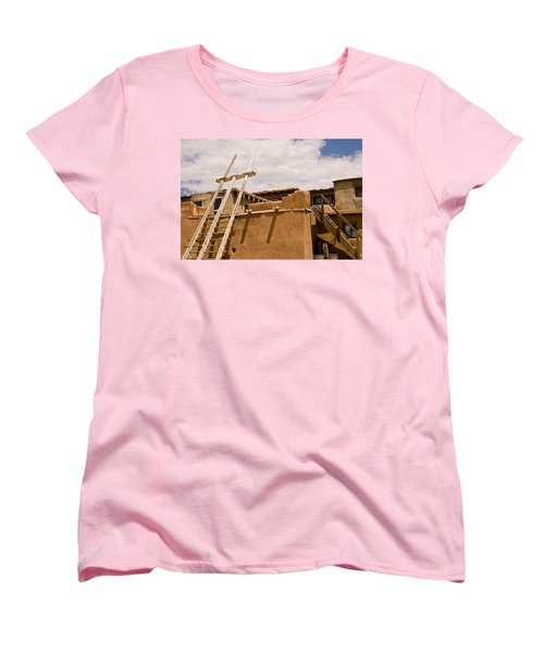 Acoma Building Women's T-Shirt (Standard Cut) by James Gay