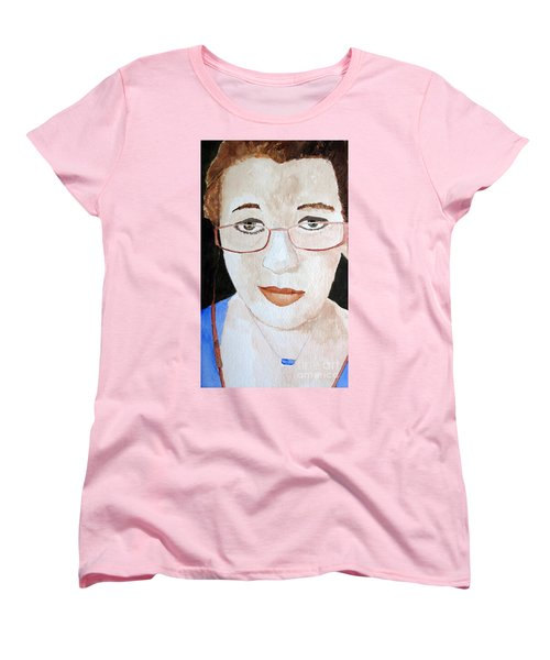 Women's T-Shirt (Standard Cut) featuring the painting Addie Two by Sandy McIntire