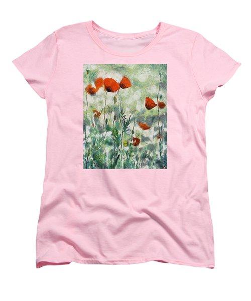 Women's T-Shirt (Standard Cut) featuring the painting Affection by Joe Misrasi