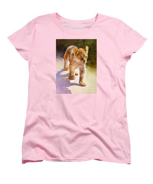 African Lion Cub Women's T-Shirt (Standard Cut) by Bonnie Rinier